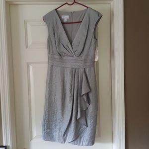 Shimmery silver dress